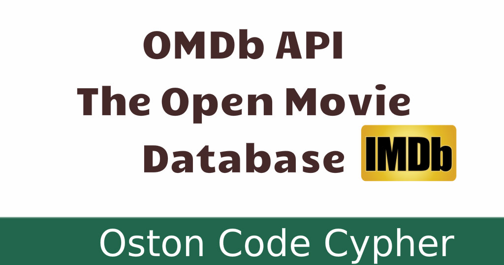 OMDb API - The Open Movie Database