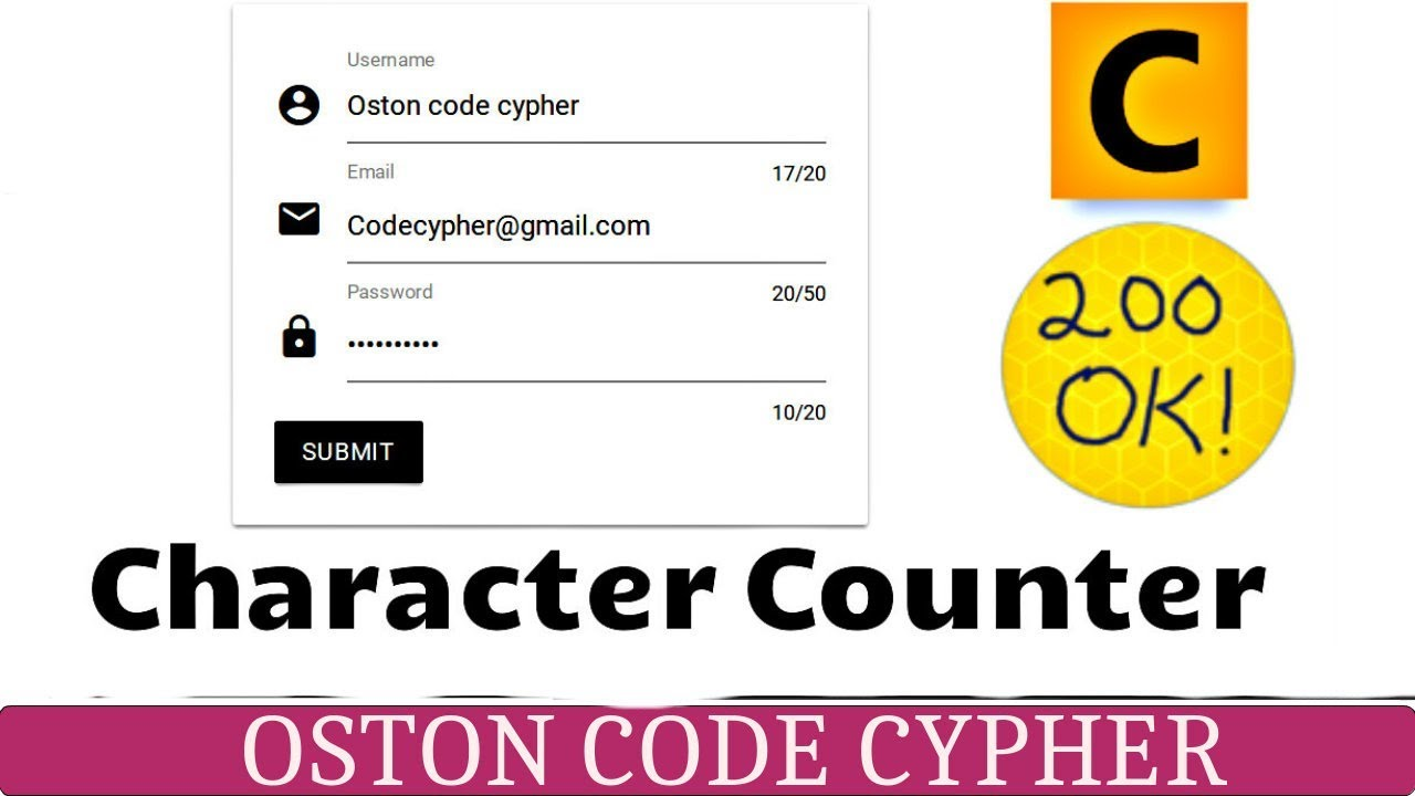 How to create a Form Character Counter using Materialize
