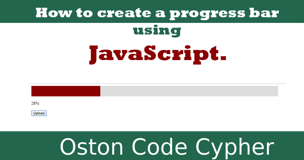 Learn how to create a progress bar using JavaScript