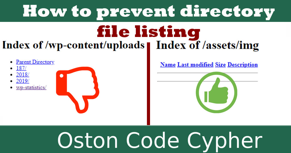 How to prevent directory file listing on your website