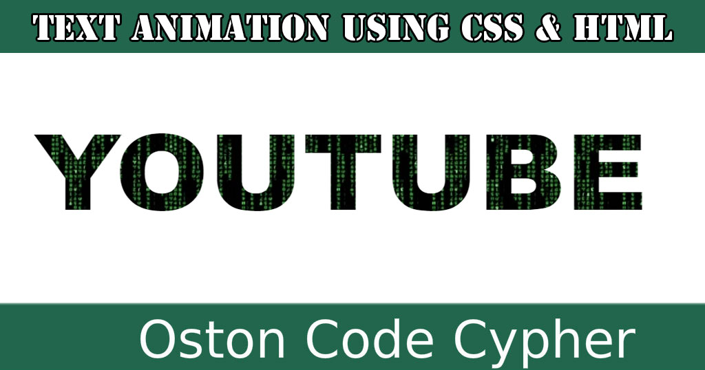 How to create Text Animation using HTML and CSS