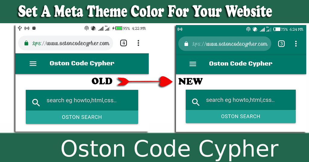 How To Set A Meta Theme Color For Your Website