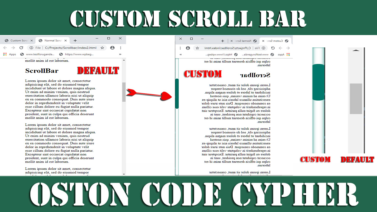 Learn how to create a custom scrollbar with CSS.