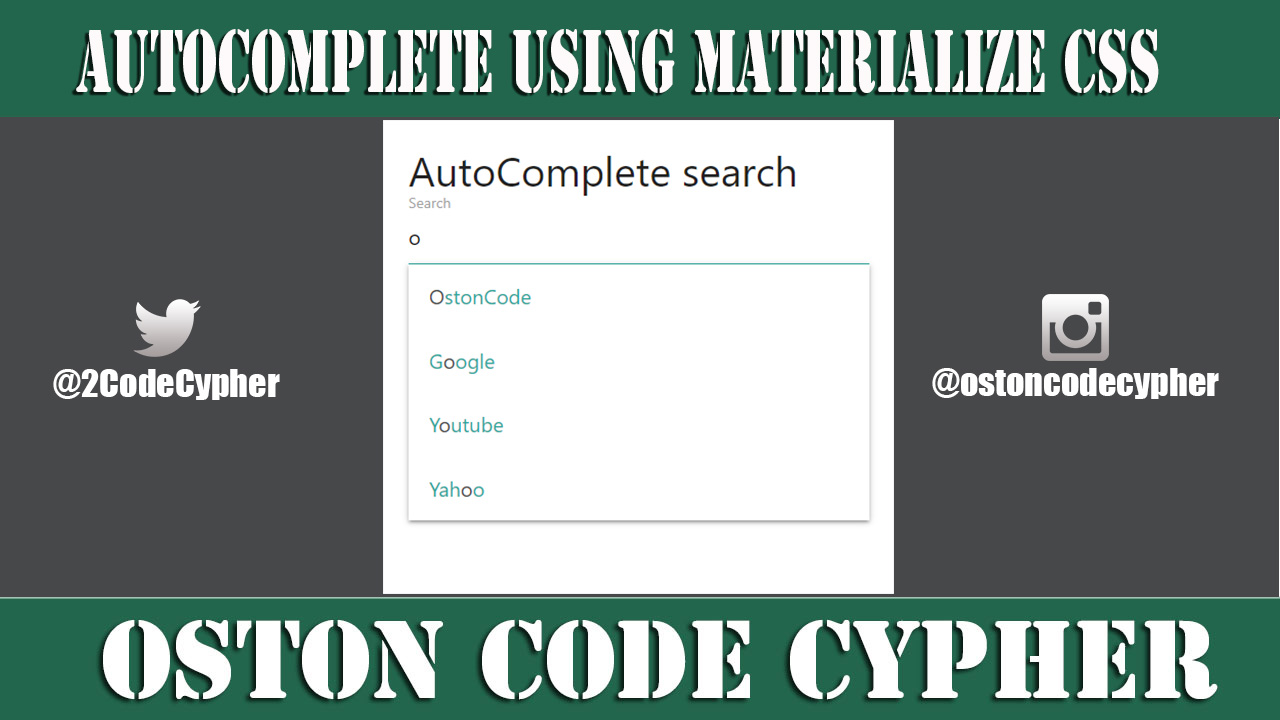 How to create a simple Autocomplete Search Engine Using Materialize CSS
