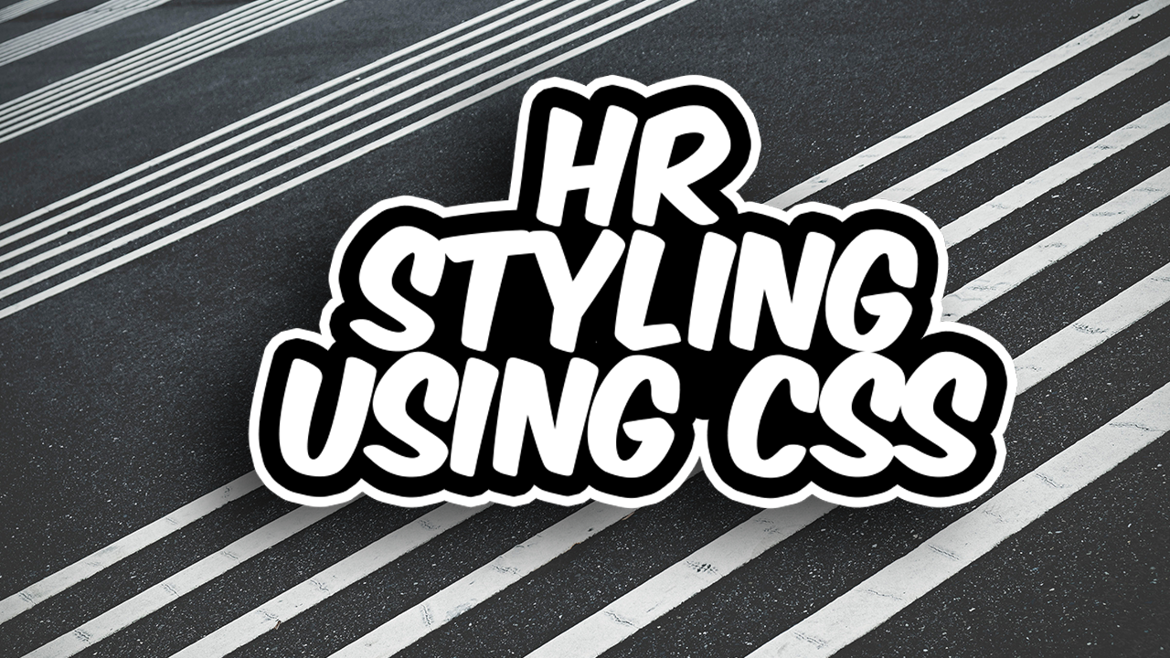 How to style an hr element using CSS