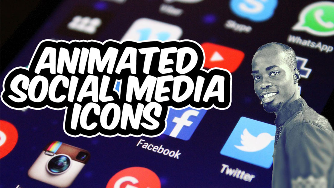 Animated Social Media Icons Using Font Awesome and Materialize CSS