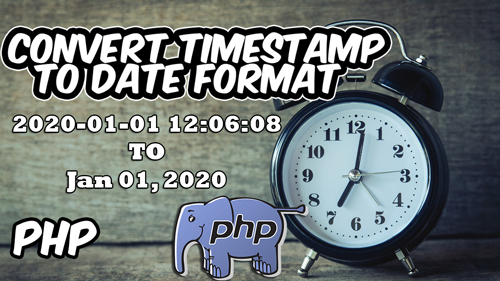 How to convert A Timestamp in Date Format