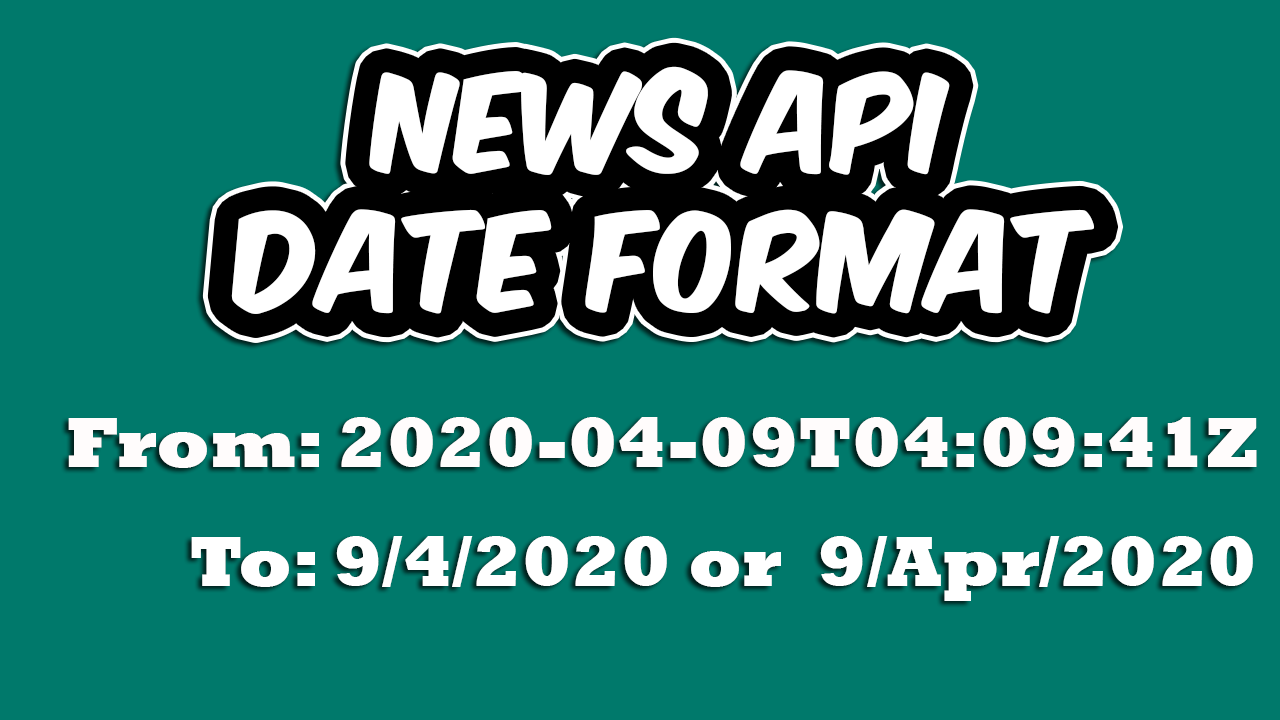 How to convert the News API Date format to DD MM YY