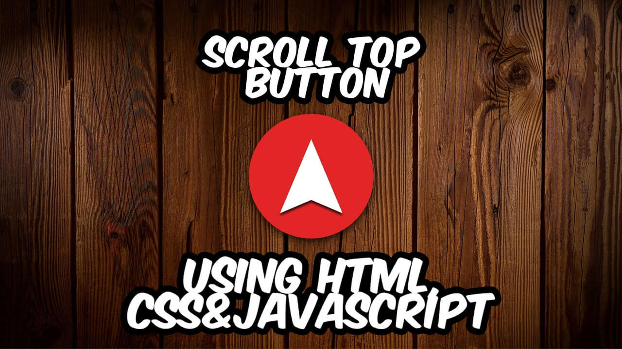How to a create Scroll To Top Button using HTML CSS & JAVASCRIPT
